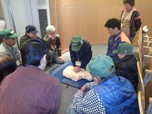 桐生消防署の方によるAED講習