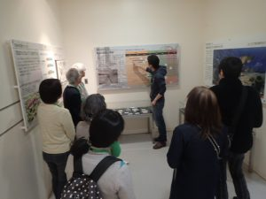 館内展示物の紹介と展示昆虫の説明